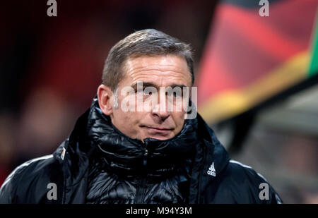 Braunschweig, Deutschland. 22nd Mar, 2018. coach Stefan Kuntz (Germany) GES/ Fussball/ U 21: Germany - Israel, 22.03.2018 -- Football/ Soccer Under 21: Deutschcland vs Israel, Braunschweig, March 22, 2018 -- |usage worldwide Credit: dpa/Alamy Live News - Stock Photo