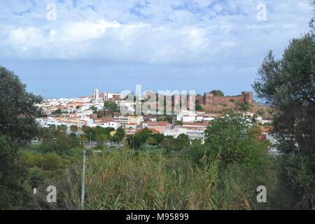 'Portugal' 'portitours' 'Algarve' 'jeep safari' 'albufeira' 'holiday' 'portimao' 'ferragudo castle' 'cork trees' 'forest fire' 'sundown' 'tavira'. - Stock Photo