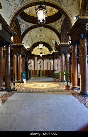 Glasgow City Chambers Marble Staircase Entrance - Stock Photo