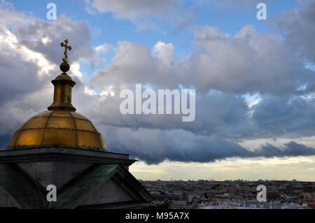 View over Sankt Petersburg from Saint Isaacs Cathedrals oberservation deck, Russia - Stock Photo