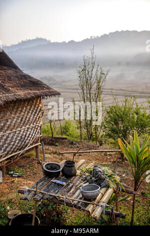 Rural farm near Aungpan (Aungban), Shan State, Myanmar(Burma) - Stock Photo