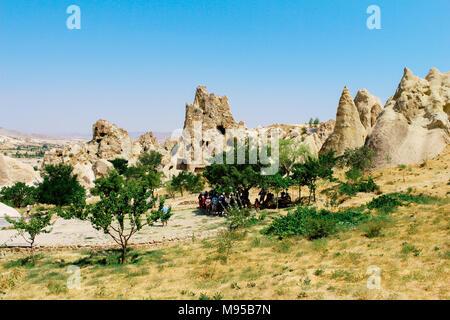 Goreme national park, Goreme open air museum in Turkey - Stock Photo