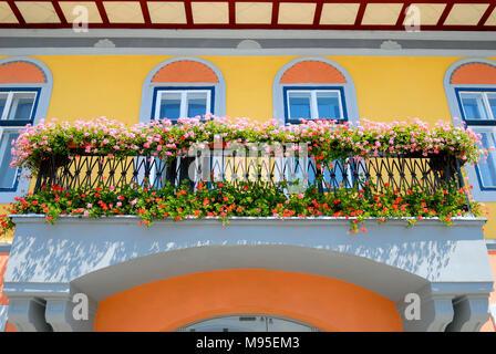 Sibiu, Transylvania, Romania. Anglo Romanian Bank in Piata Mare (main square) - Stock Photo