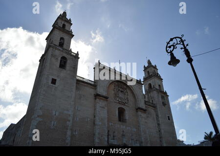 The Catedral de San Ildefonso in Merida, Mexico - Stock Photo