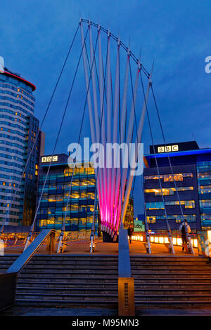The BBC buildings at MediaCityUK, Salford Quays, Greater Manchester, UK. - Stock Photo