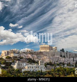 Parthenon, Acropolis of Athens Greece, square image - Stock Photo