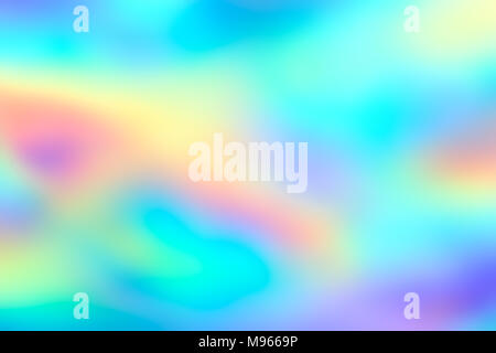 Blur holographic neon foil background. Abstract holographic background. Design template. - Stock Photo