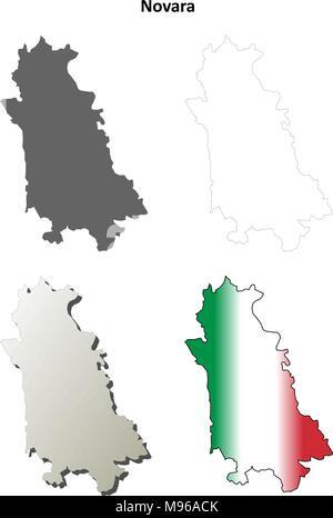 Map of Italy Novara Stock Vector Art Illustration Vector Image