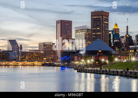 The Inner Harbor in Baltimore, Maryland - Stock Photo