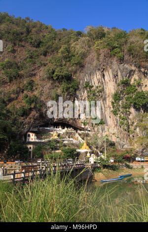 Myanmar, Kayin State, Yathet Pyan Cave, landscape, - Stock Photo