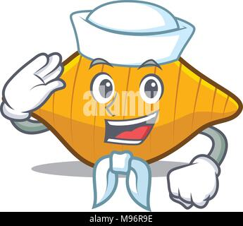 Sailor conchiglie pasta character cartoon - Stock Photo