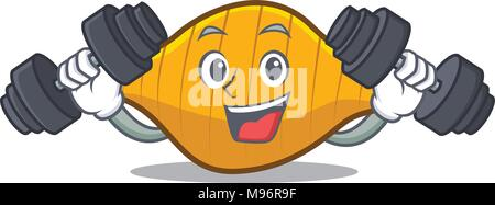 Fitness conchiglie pasta character cartoon - Stock Photo