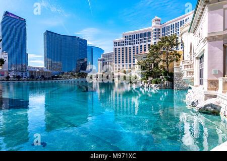 Tourist view of. Las Vegas, Narvarda during the day. U.S.A - Stock Photo