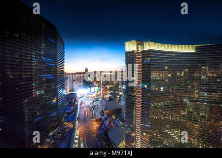 View from The Vdara hotel and spar Las Vegas, Narvarda, U.S.A - Stock Photo