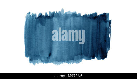 Colorful watercolor background hand painted on white background - Stock Photo