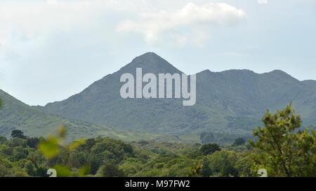 Sugarloaf Mountain from Garnish Island - Stock Photo