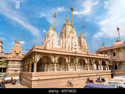 Kalupur Swaminarayan Mandir, a hindu temple in the old city of Ahmedabad - Gujarat State of India - Stock Photo