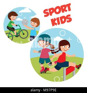sport kids activity - Stock Photo