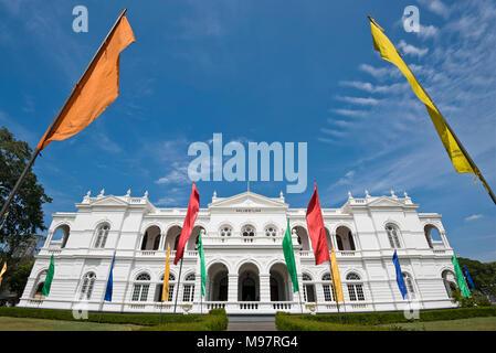 Horizontal view of the National Museum of Colombo, aka the Sri Lanka National Museum, in Colombo, Sri Lanka. - Stock Photo