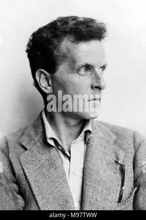 Ludwig Wittgenstein. Portrait of the Austrian philosopher Ludwig Josef Johann Wittgenstein (1889-1951) by Moritz Nähr, 1930. - Stock Photo