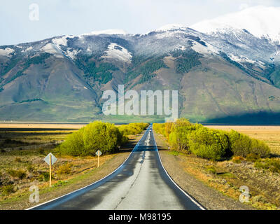 Argentina, Patagonia, El Calafate, Santa Cruz Province, road near Lago-Argentino - Stock Photo