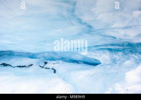 USA, Alaska, Valdez Glacier, Ice cave, ice crevice - Stock Photo