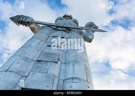 Tbilisi, Georgia - Desember 9, 2017: Kartlis Deda, or Mother Georgia monument, erected on top of Sololaki hill in 1958, the year Tbilisi celebrated it - Stock Photo