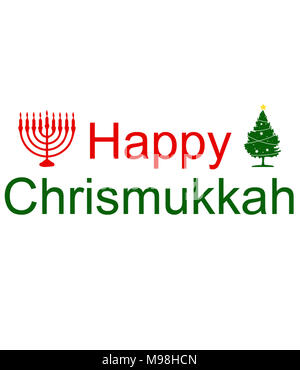 happy chrismukkah to all - Stock Photo