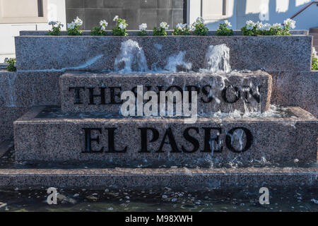 Palm Desert, CA - December 12, 2017 - Fountain at The Shops on El Paseo on the corner of El Paseo and Monterey Ave./Highway 74 - Stock Photo