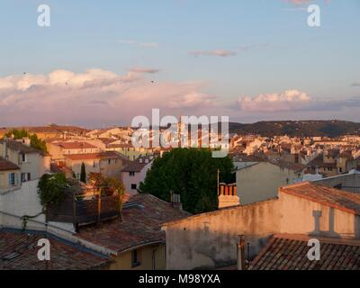 View over rooftops on Aix-en-Provence - Stock Photo