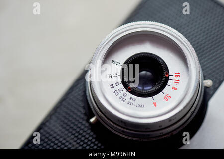 the old manual camera. Manual control. Retro. History of photography.Film photography - Stock Photo