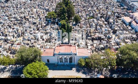 Cementerio de la Recoleta or La Recoleta Cemetery, Buenos Aires, Argentina - Stock Photo