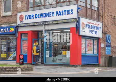Death of the High Street metaphor / concept - Ivor Dewdney pasty shop in Plymouth, Devon. - Stock Photo