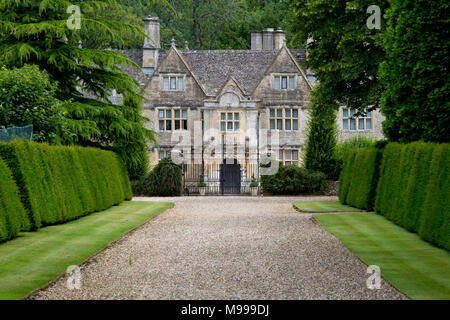 Upper Slaughter Manor House, the Cotswolds, Upper Slaughter, Gloucestershire, England - Stock Photo