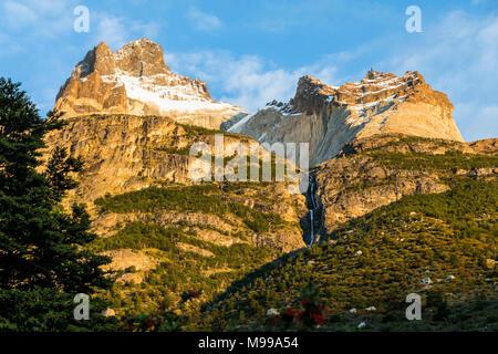 Mte. Almirante Nieto; 2640 meters; near Refugio Cuernos; Torres del Paine National Park; Chile - Stock Photo