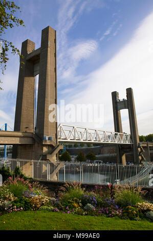 Pont de Recouvrance Brest Finistere Brittany France - Stock Photo