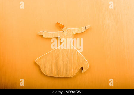 Sufi Dervish figurine model in small size in view - Stock Photo