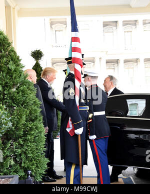 President Donald J. Trump hosts the Armed Forces Full Honor Cordon ceremony in honor of Nursultan Nazarbayev, the President of Kazakhstan, at the White House, in Washington D.C. Jan. 16, 2017.   (U.S. Army - Stock Photo