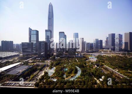 Ping An tower in Futian, Shenzhen. - Stock Photo