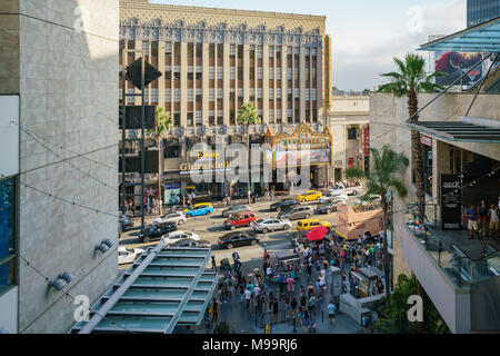 Los Angeles, JUN 23: Disney Studio Store in the famous Hollywood area on JUN 23, 2017 at Los Angeles, California - Stock Photo