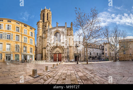 The Cathedral of the Holy Saviour in Aix-en-Provence, Bouches-du-Rhone, France - Stock Photo