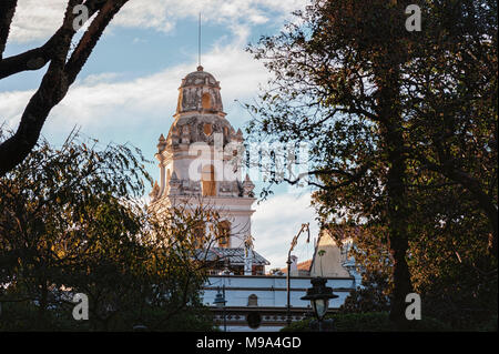 Details of the capital colonial city of Sucre, Bolivia - South America - Stock Photo
