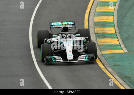 Albert Park, Melbourne, Australia. 24th Mar, 2018. Valtteri Bottas (FIN) #77 from the Mercedes AMG Petronas Motorsport team during practice session three at the 2018 Australian Formula One Grand Prix at Albert Park, Melbourne, Australia. Sydney Low/Cal Sport Media/Alamy Live News - Stock Photo