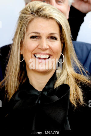 Doorn, Netherlands. 23rd Mar, 2018. Queen Máxima of The Netherlands at Kaap Doorn in Doorn, on March 23, 2018, for a workvisit to a kick-off program for more opportunities for youngsters of the Oranje Fonds Credit: Albert Nieboer/Netherlands OUT/Point De Vue Out - NO WIRE SERVICE · Credit: Albert Nieboer/RoyalPress/dpa/Alamy Live News - Stock Photo