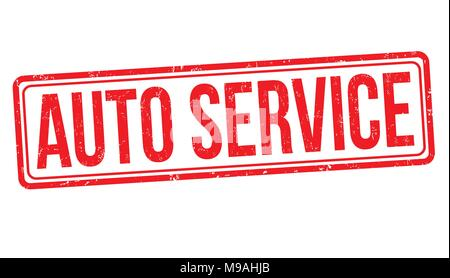Auto service grunge rubber stamp on white background, vector illustration - Stock Photo