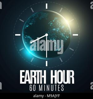 Earth hour futuristic planet earth 60 minutes without electricity abstract world map sunrise earth hour futuristic planet earth 60 minutes without electricity 3d paper letters gumiabroncs Image collections