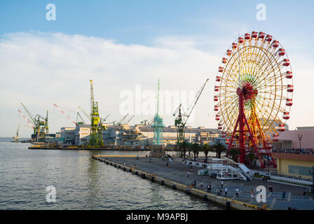Kawasaki Heavy Industries Kobe Works, kobe, hyogo prefecture, japan - Stock Photo