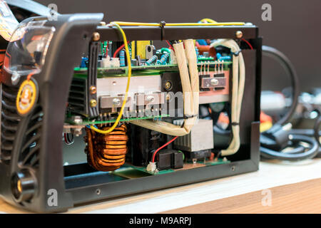 disassembled inverter welding machine - Stock Photo