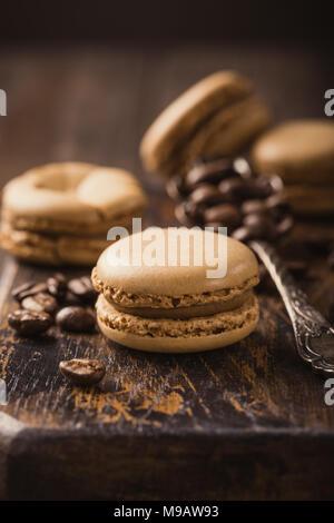 French coffee macarons - Stock Photo