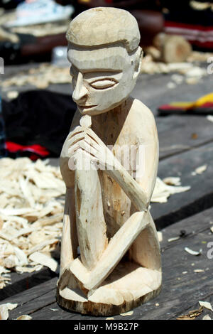 Wood Crafting Competition at Cultural Festival Asmat, Papua, Indonesia - Stock Photo